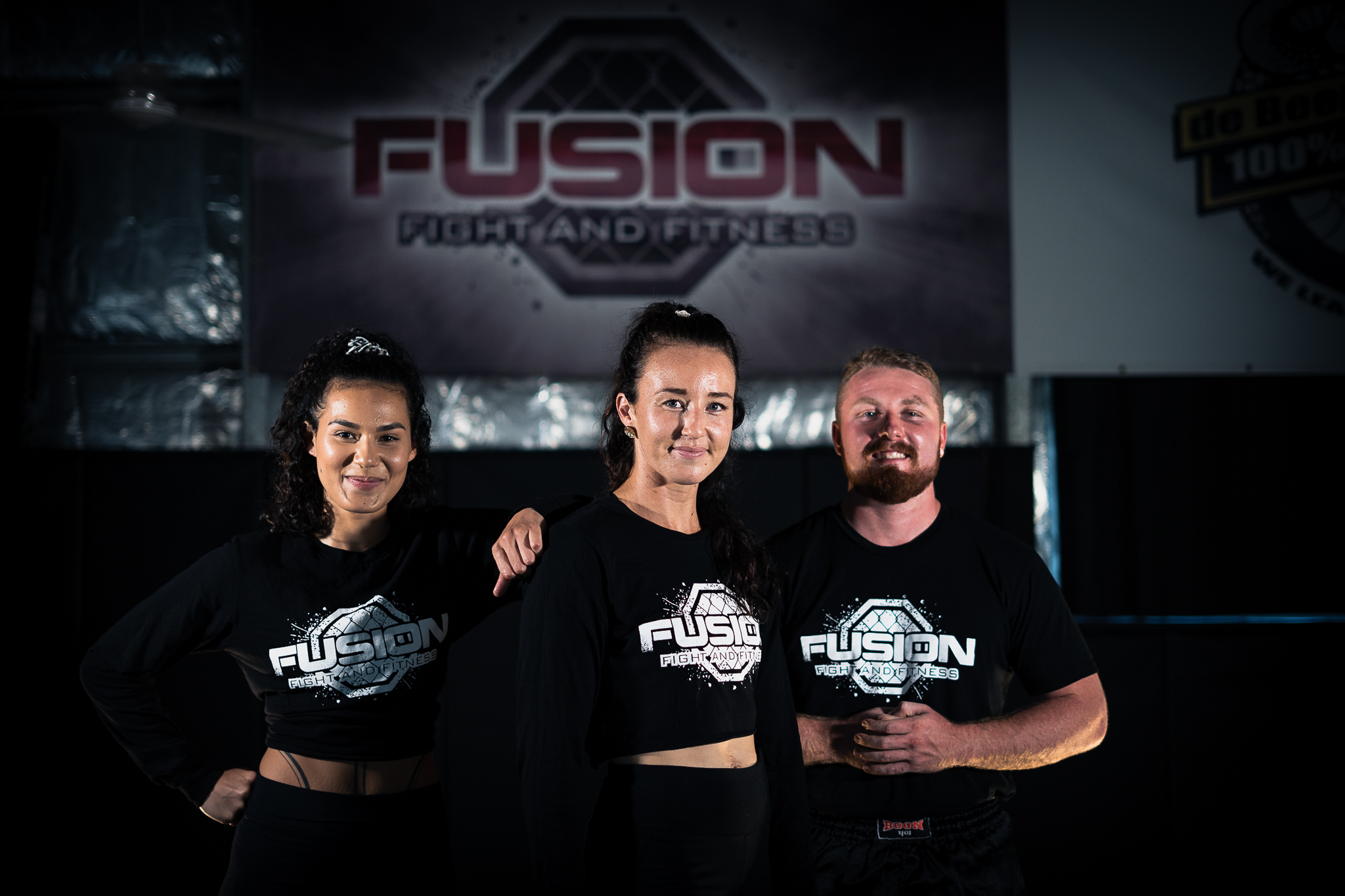 Fusion ladies in a fight stance